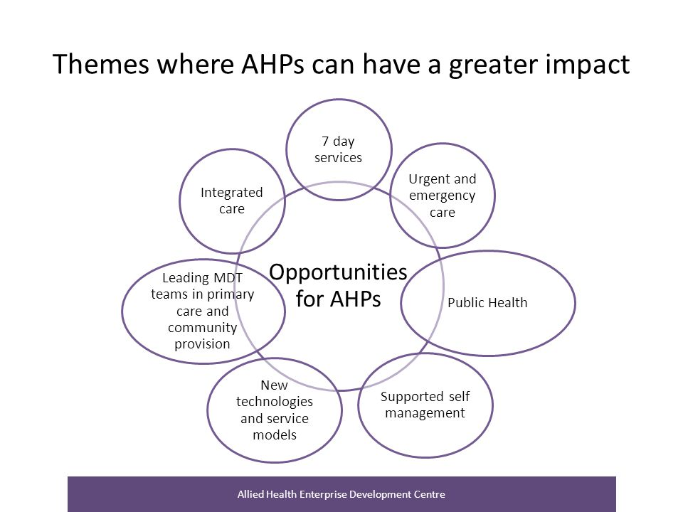 Themes where AHPs can have a greater impact