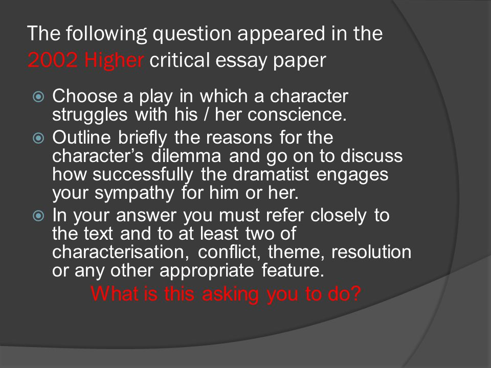 Sample Essay The Crucible  Ppt Video Online Download  What