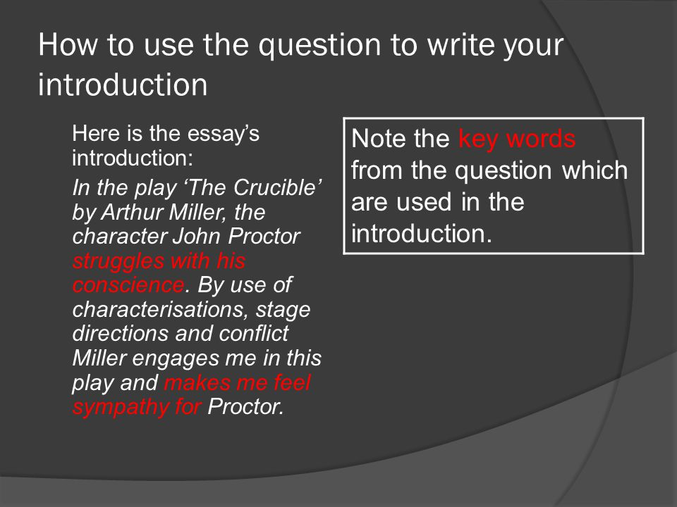 Sample Essay The Crucible  Ppt Video Online Download  How
