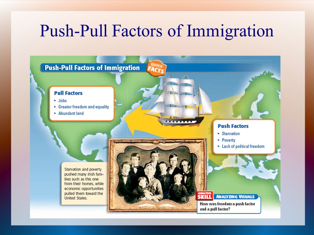 What are the push and pull factors for Vietnamese immigrants caused by the war?