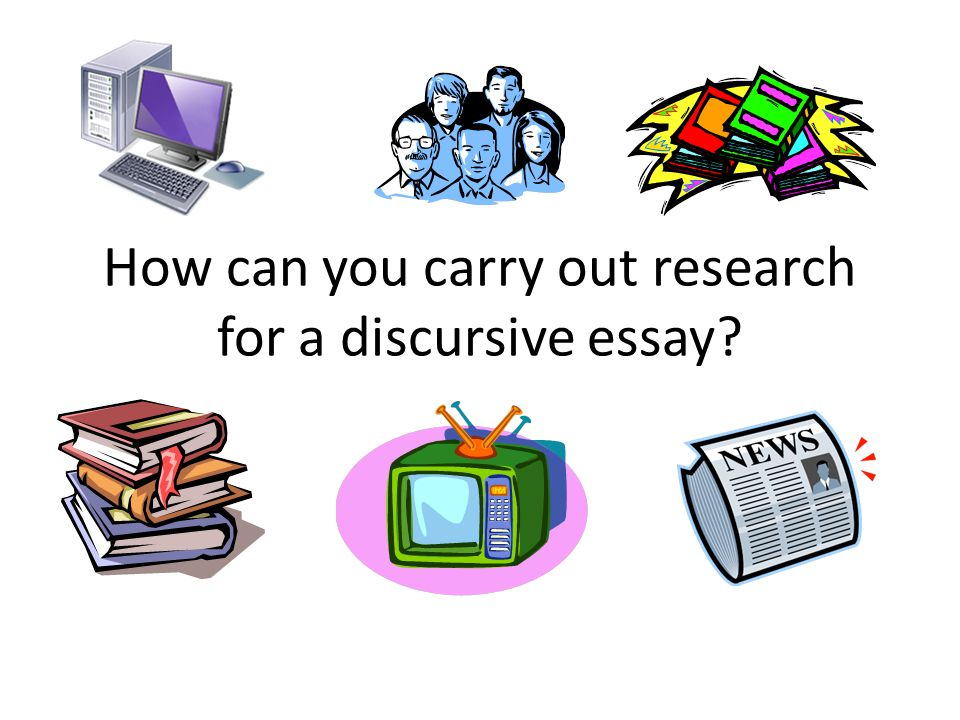 ways to start a discursive essay A guide to writing scientific essays these are general points that any good scientific essay should follow 1 structure: essays should make an argument: your essay.