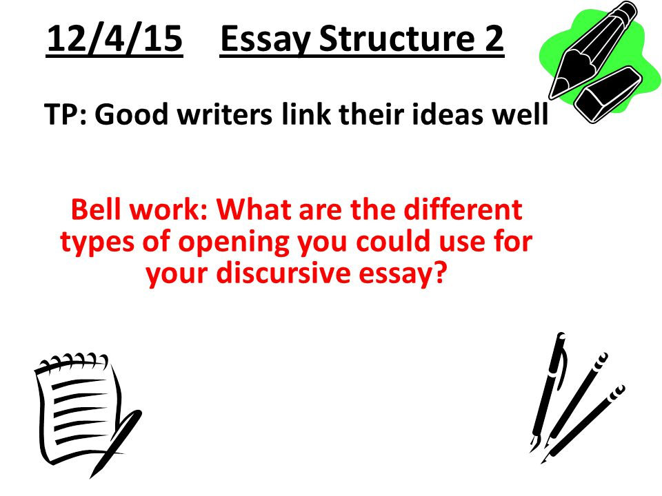 discursive essay writing ppt  12 4 15 essay structure 2