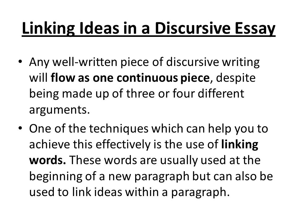 discursive essay writing ppt  linking ideas in a discursive essay