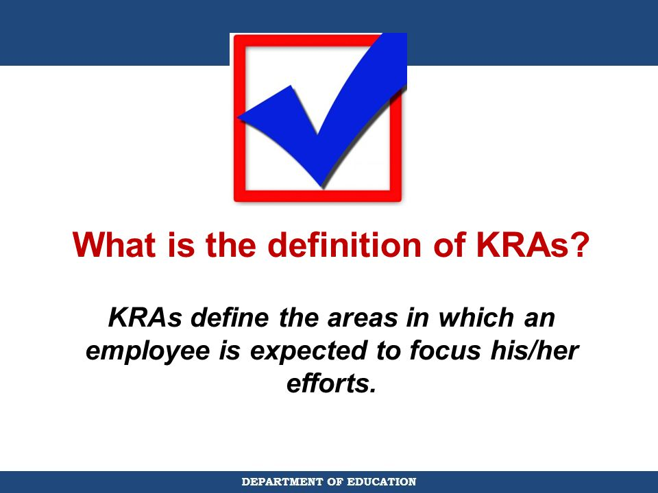 What is the definition of KRAs