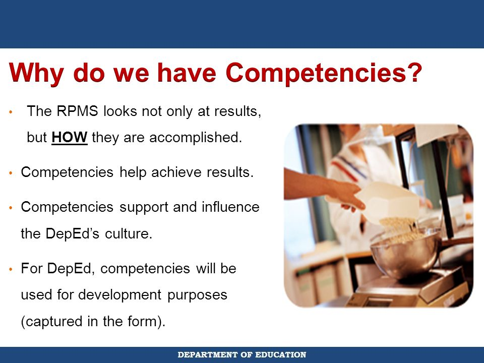 Why do we have Competencies