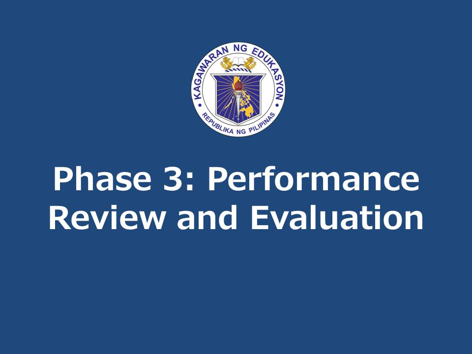 Phase 3: Performance Review and Evaluation