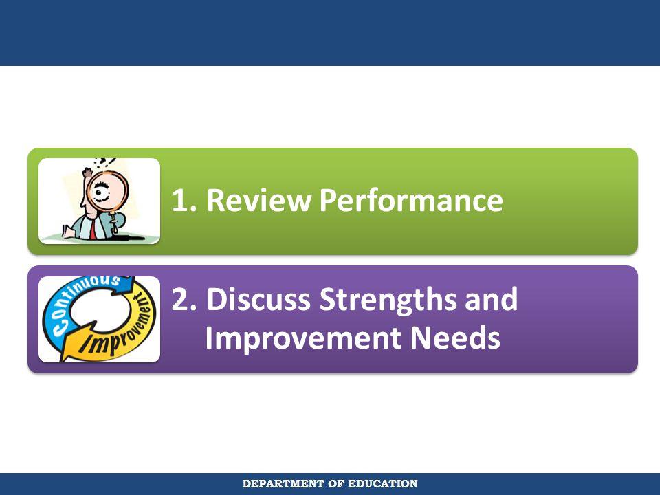 2. Discuss Strengths and Improvement Needs