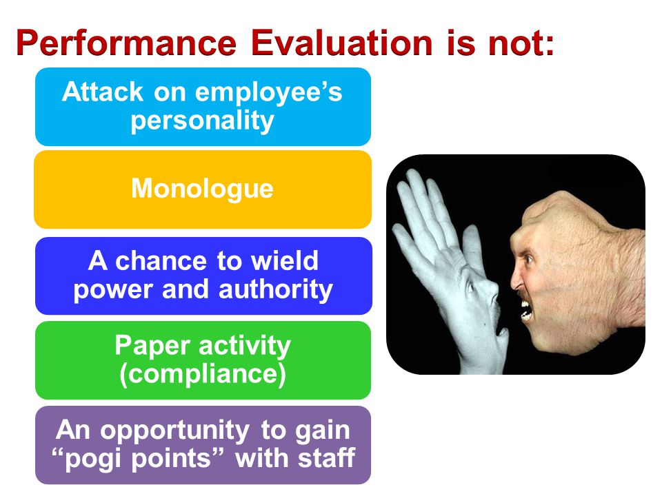 Performance Evaluation is not: