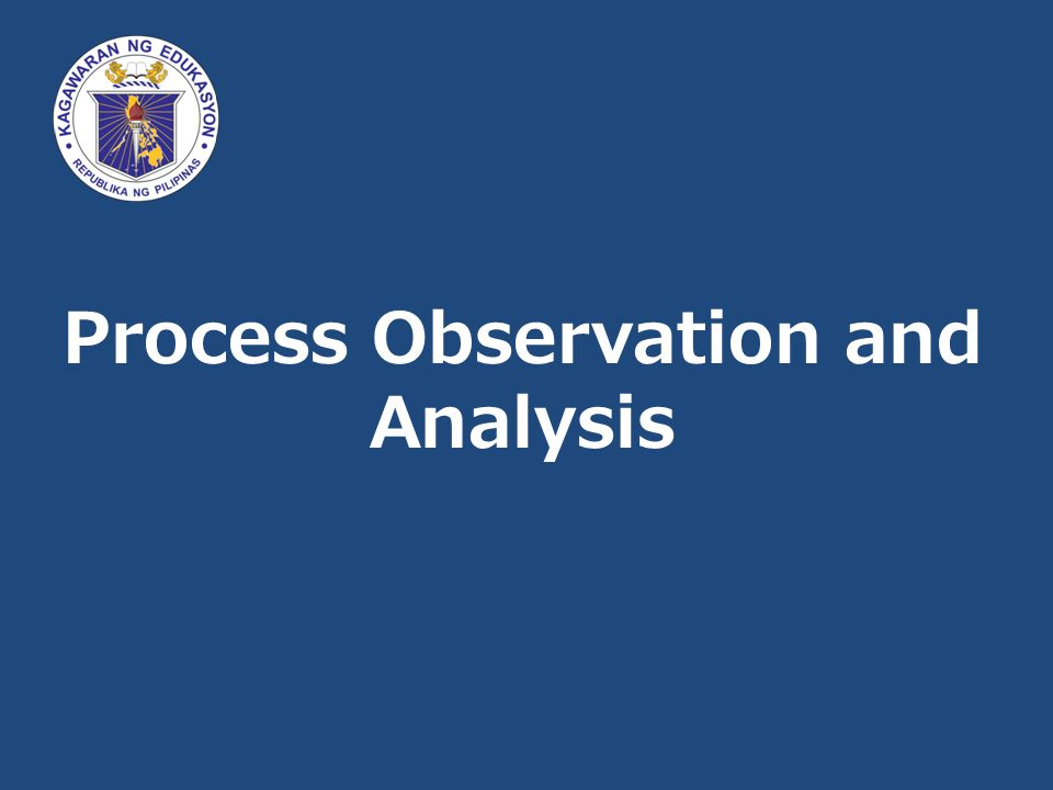 Process Observation and Analysis