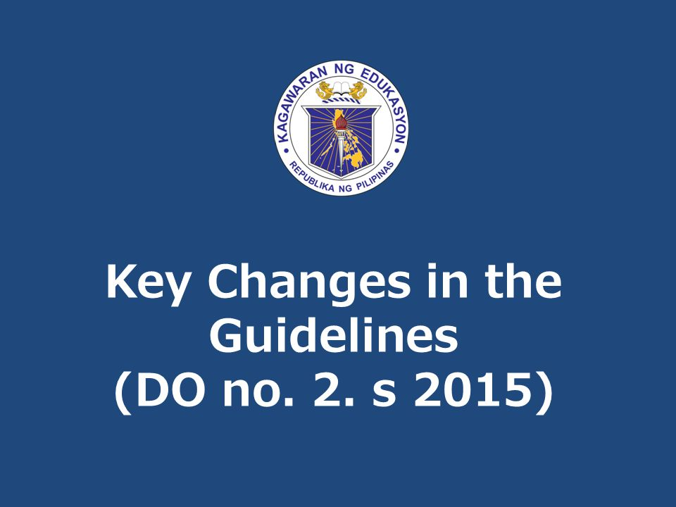 Key Changes in the Guidelines