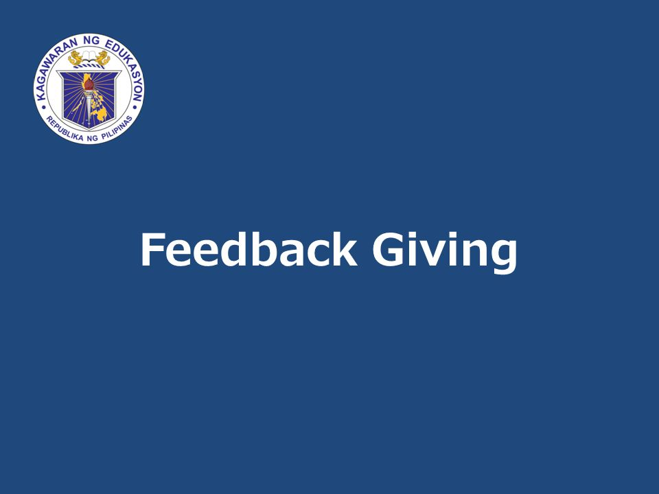 Feedback Giving