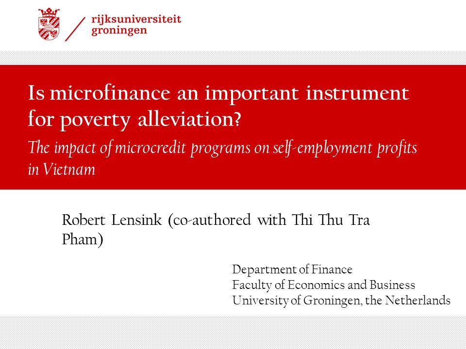 Is microfinance an important instrument for poverty alleviation