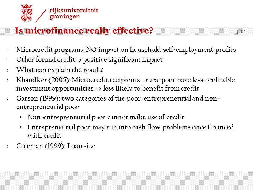 Is microfinance really effective