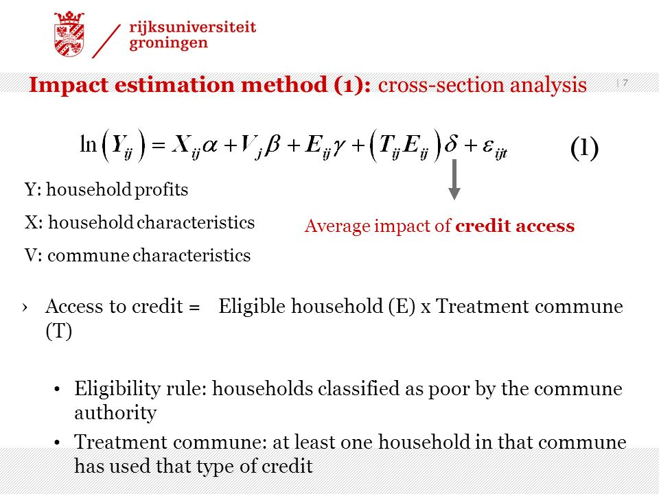Impact estimation method (1): cross-section analysis