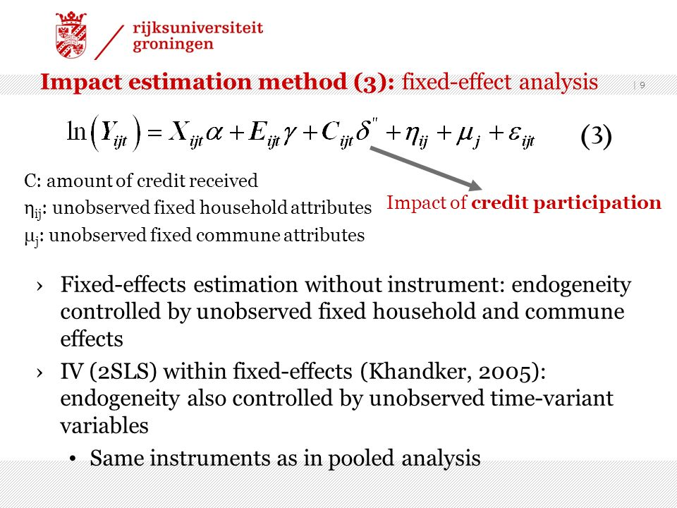 Impact estimation method (3): fixed-effect analysis
