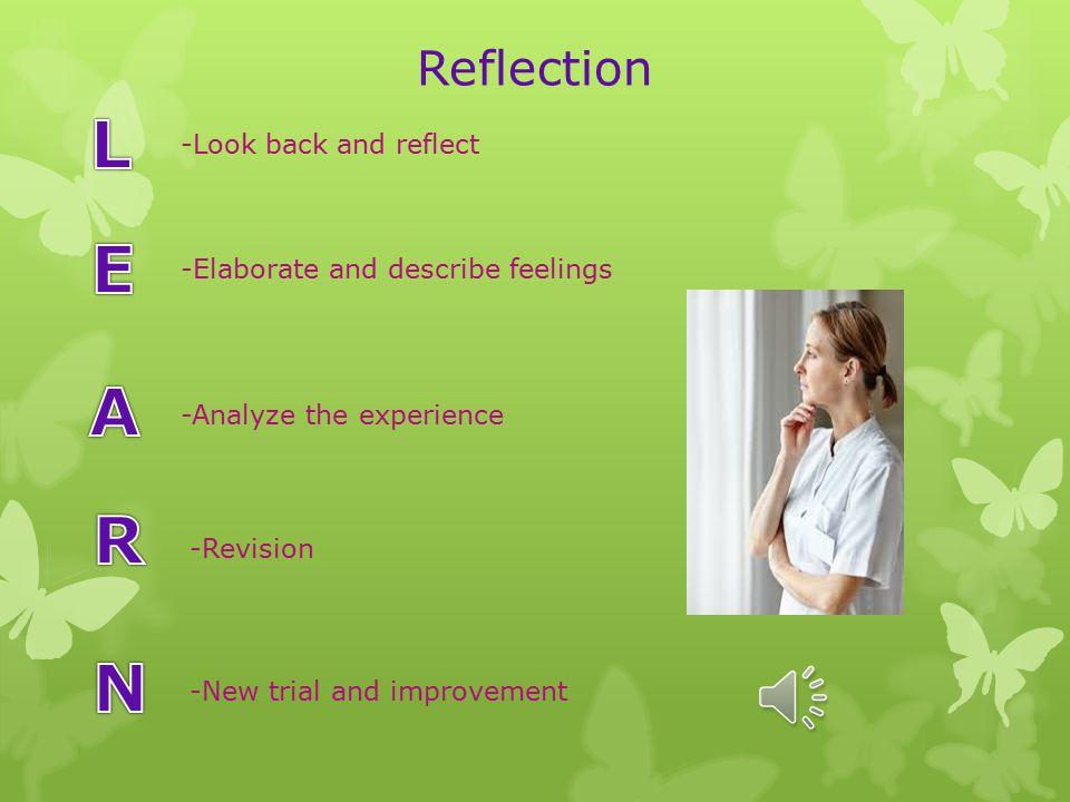 Learn acronym nursing reflection journal