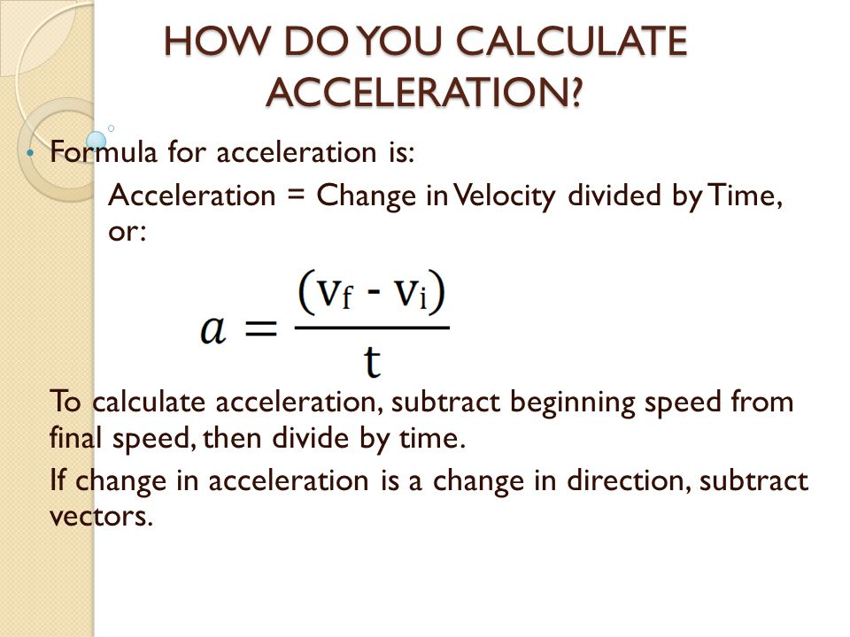 speed velocity and acceleration formulas pdf