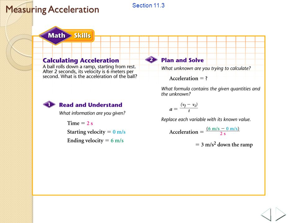 Measuring Acceleration