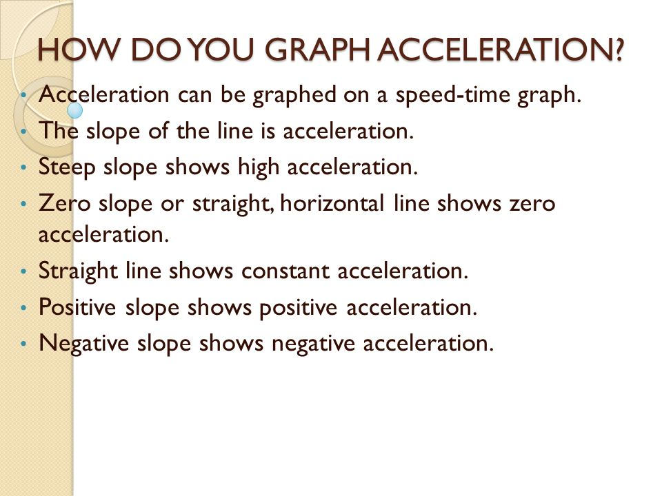 HOW DO YOU GRAPH ACCELERATION