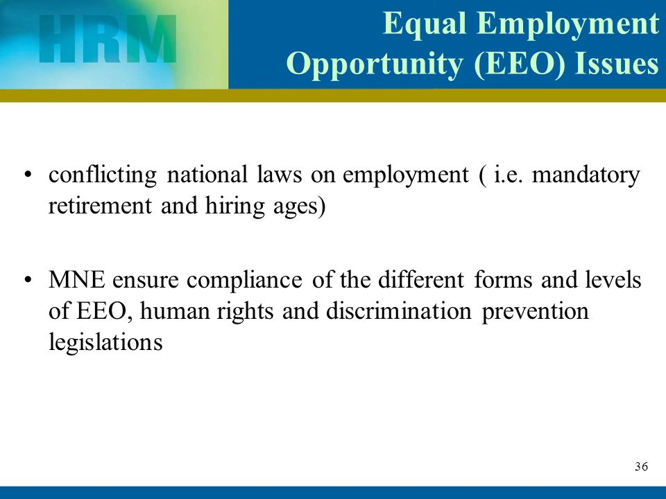 equal employment opportunity and legal compliance Policies governing equal employment opportunity (eeo) at bowie state  university  in conformity with all pertinent federal and state laws of  nondiscrimination.
