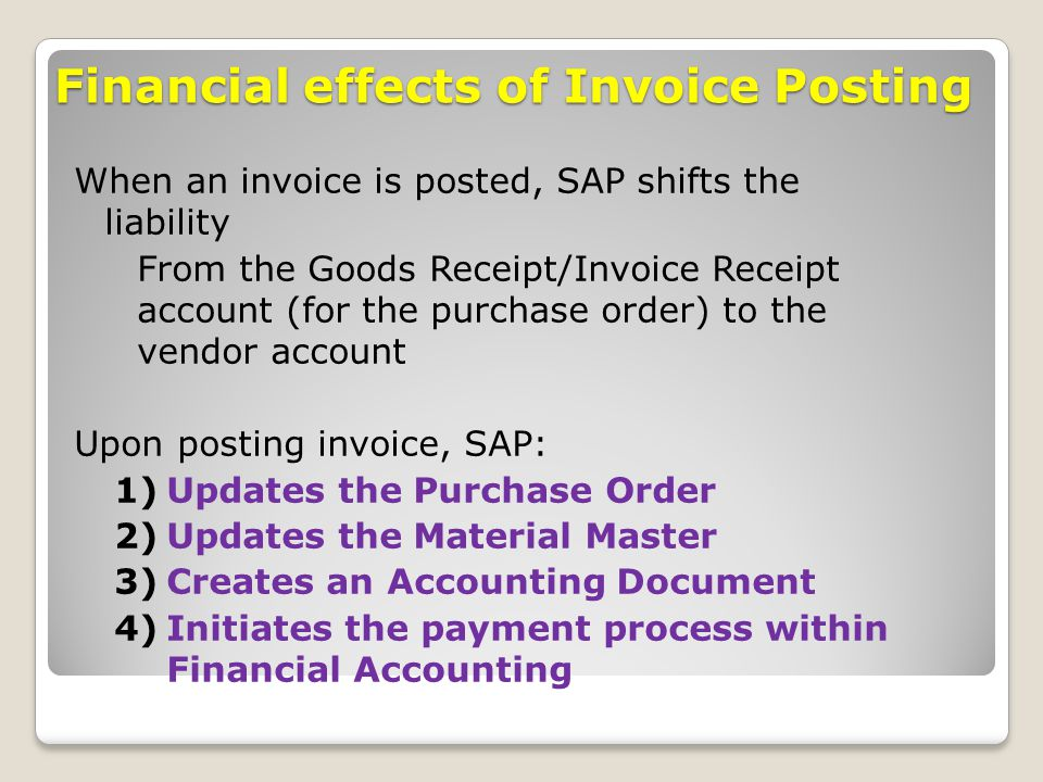 Invoicing Online Free Word Procurement Processes Sap Implementation  Ppt Download Invoice Net Amount Word with Free Invoice Templates Uk Pdf Financial Effects Of Invoice Posting Ebay Send Invoice Pdf