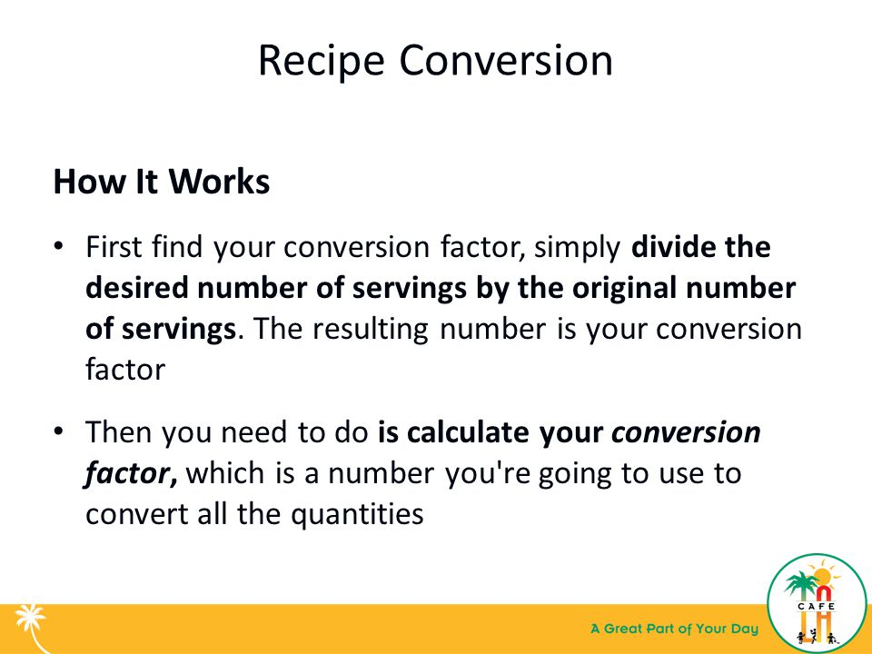 Basic kitchen math recipe conversion training for food services 4 recipe conversion forumfinder Choice Image