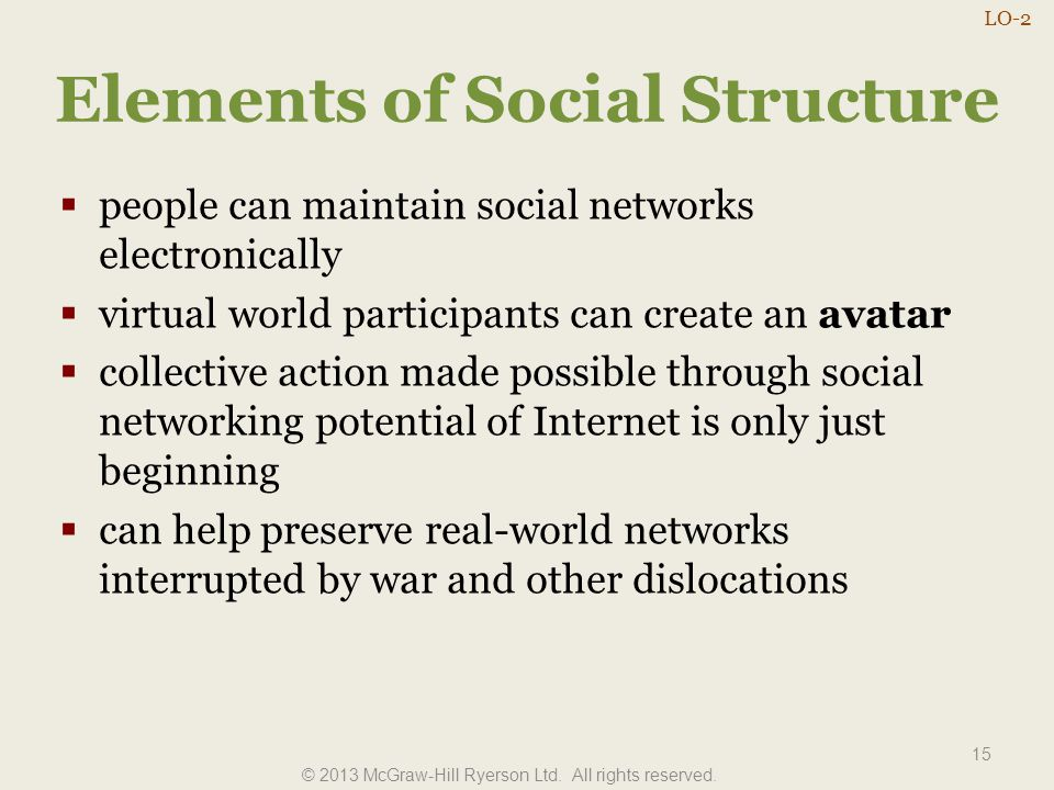Elements of Social Structure