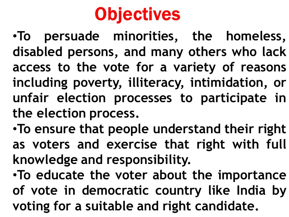 Importance of right to vote in india
