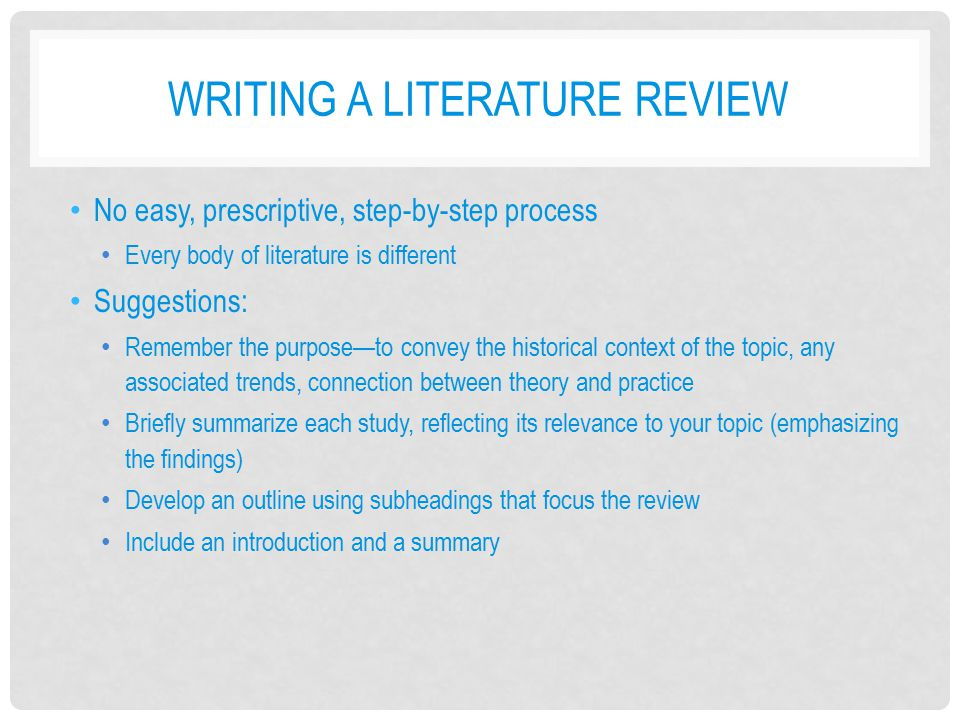 Science Thesis Writing Review Outline and Processes
