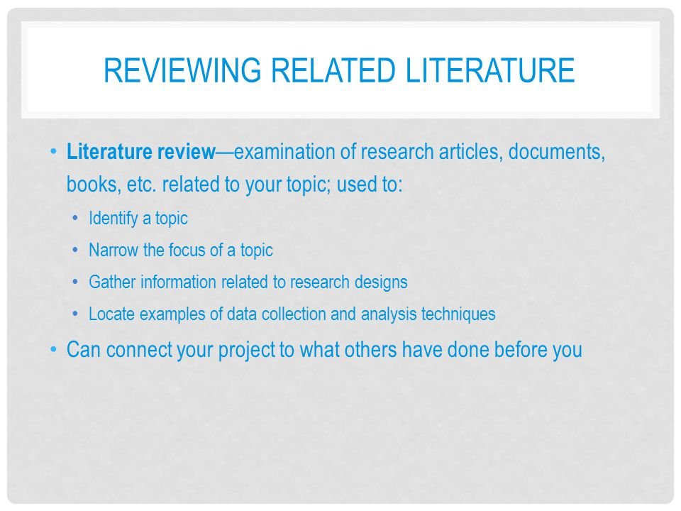 literature review on research articles