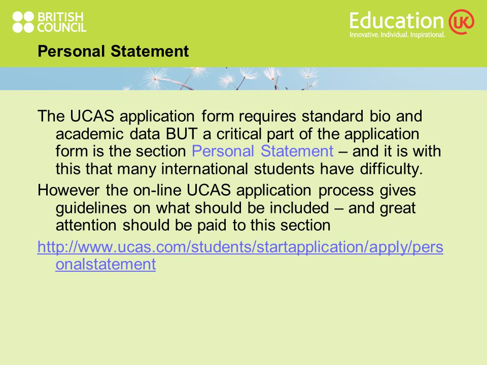 How to write your UCAS personal statement...
