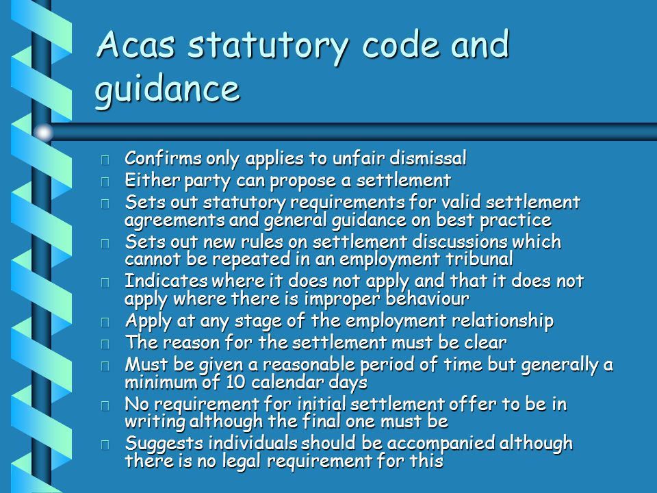 Employment law update toni mcalindin march ppt download acas statutory code and guidance platinumwayz