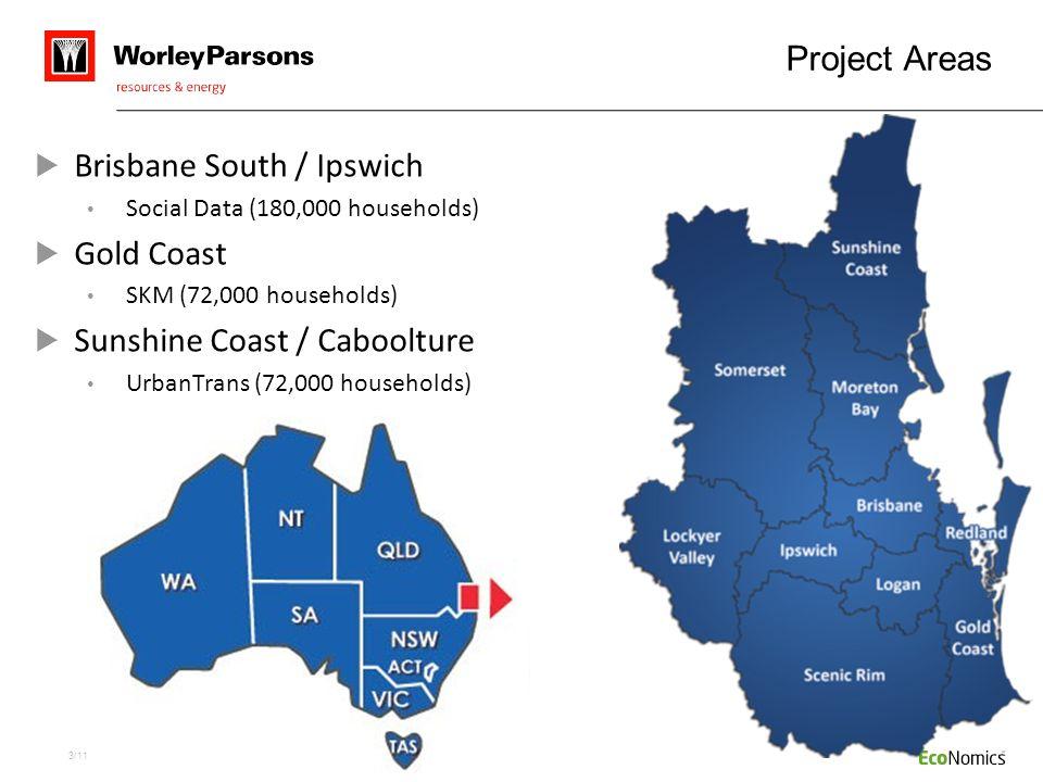 Brisbane South / Ipswich Gold Coast Sunshine Coast / Caboolture
