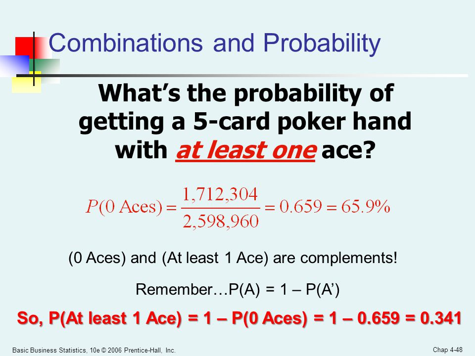 Combinations and Probability