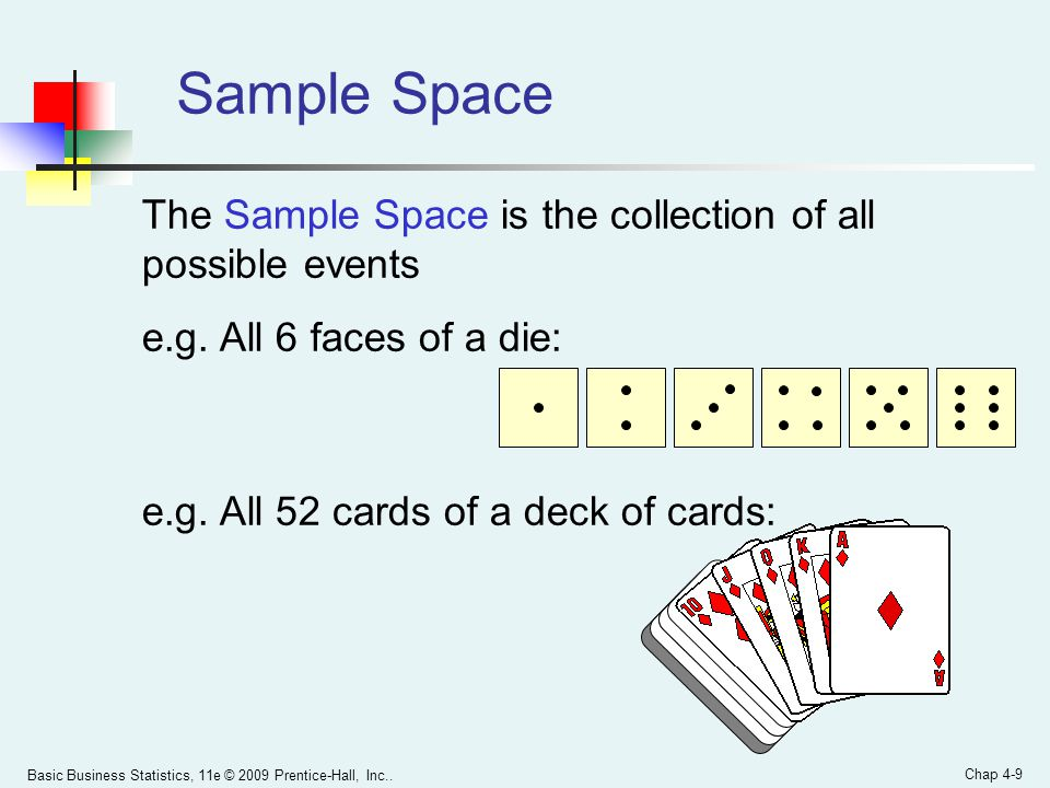 Sample Space The Sample Space is the collection of all possible events