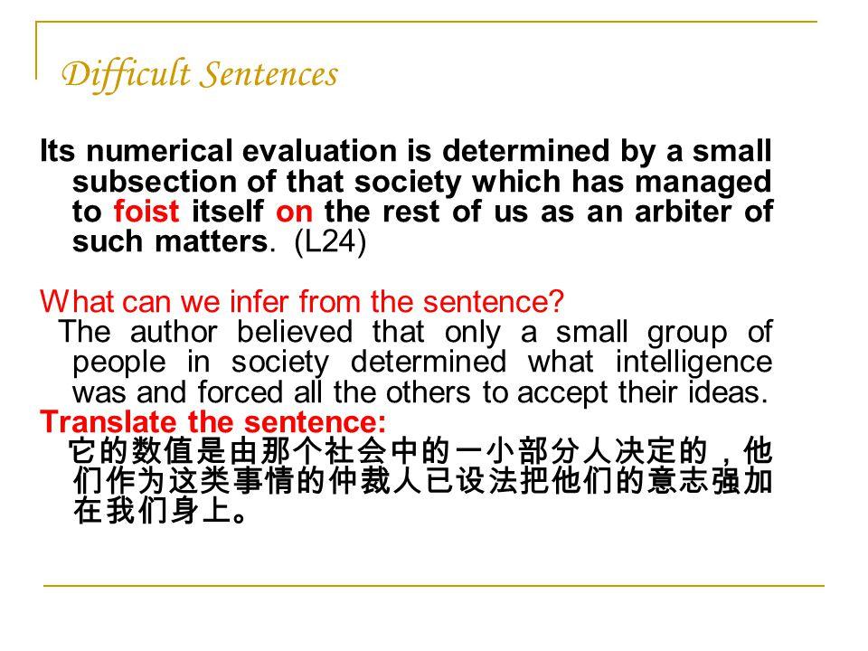 44 Difficult Sentences ...
