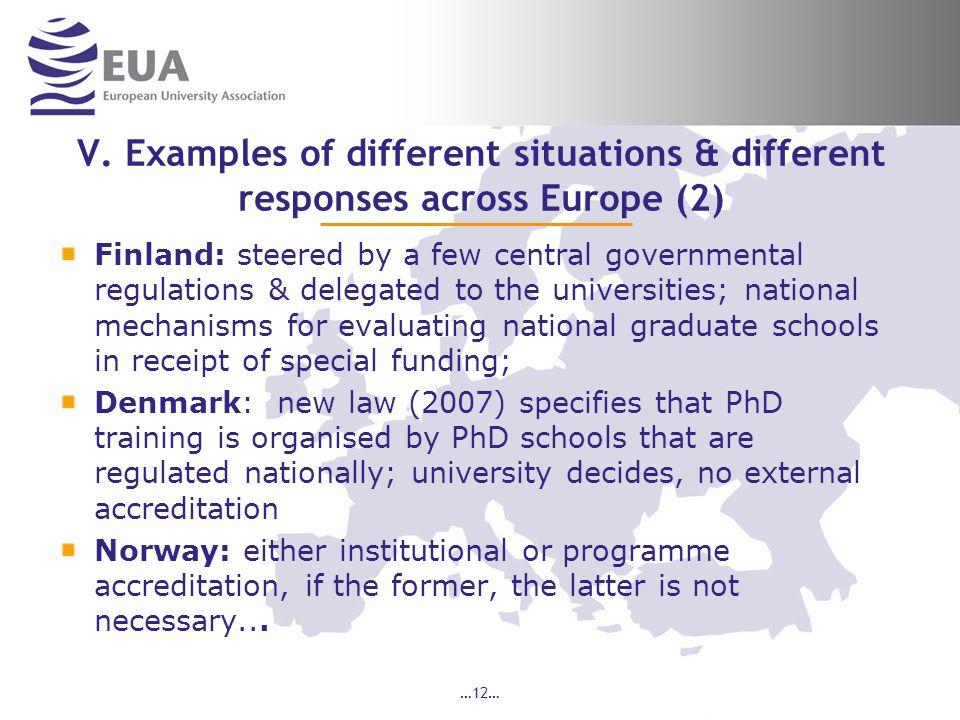 V. Examples of different situations & different responses across Europe (2)