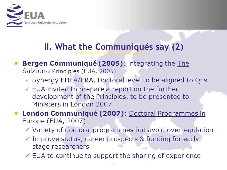 II. What the Communiqués say (2)