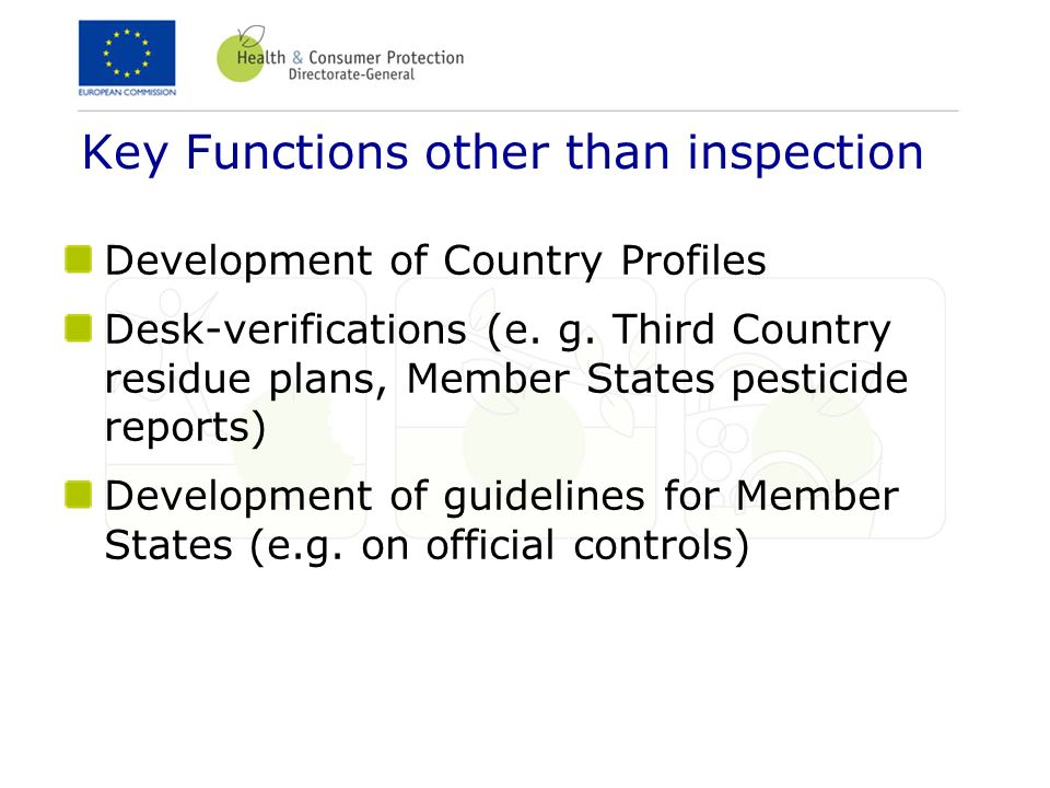 Key Functions other than inspection