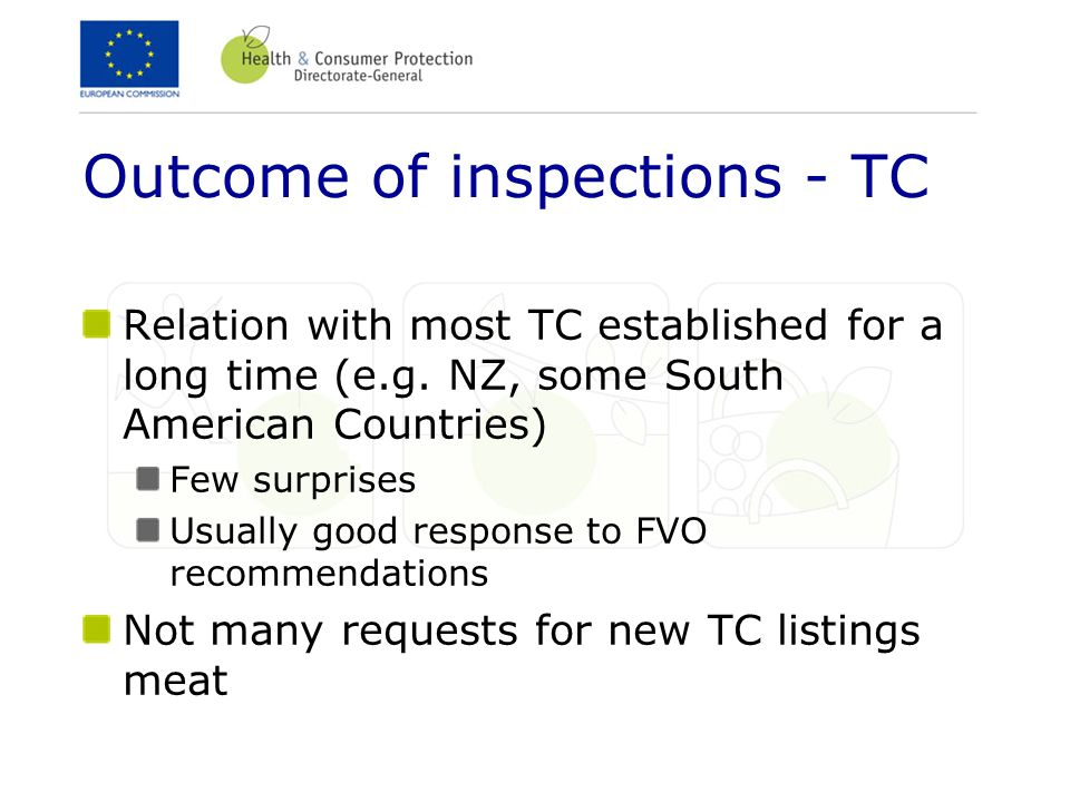 Outcome of inspections - TC
