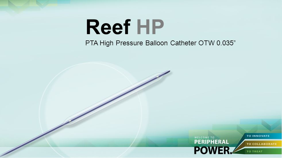 Reef HP PTA High Pressure Balloon Catheter OTW 0.035