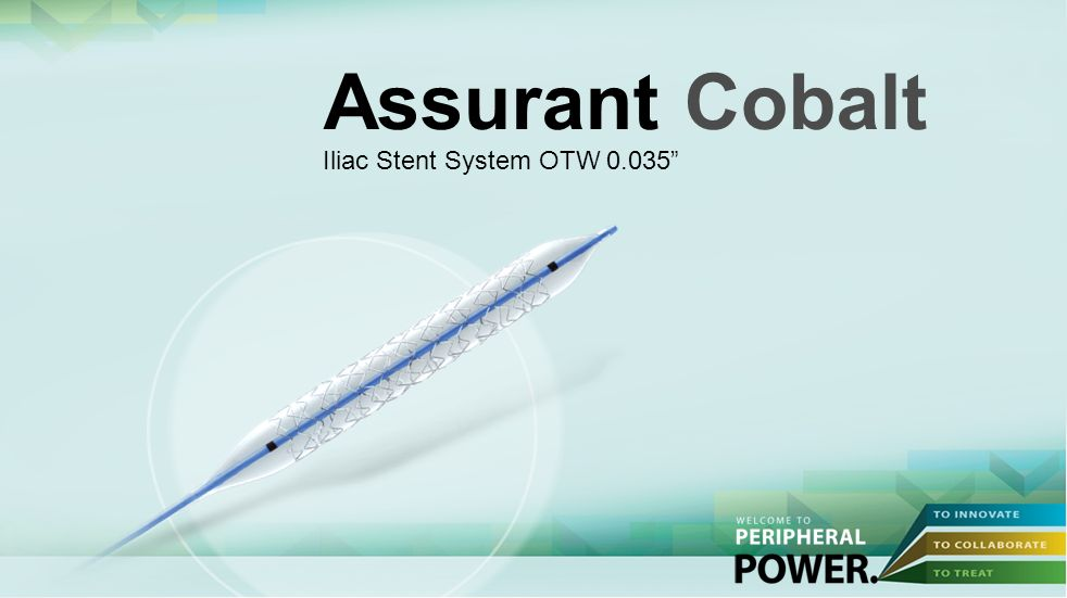 Assurant Cobalt Iliac Stent System OTW 0.035
