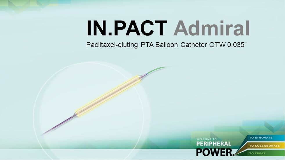 IN.PACT Admiral Paclitaxel-eluting PTA Balloon Catheter OTW 0.035