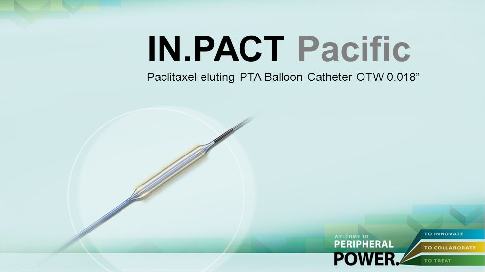 IN.PACT Pacific Paclitaxel-eluting PTA Balloon Catheter OTW 0.018