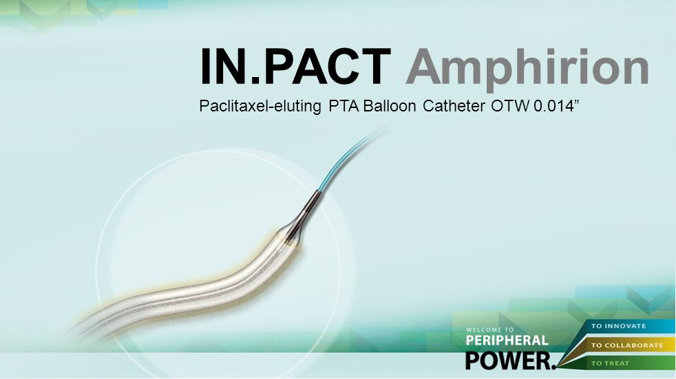 IN.PACT Amphirion Paclitaxel-eluting PTA Balloon Catheter OTW 0.014