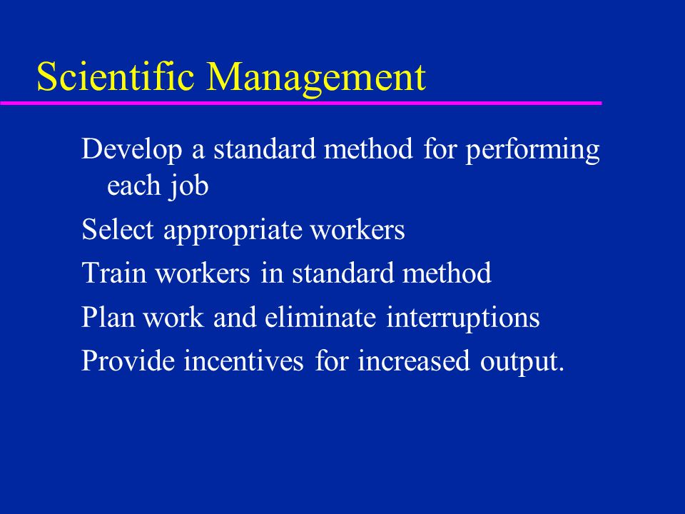 human relations and scientific management Keywords: science, management, business research methods, scientific  management  2211 scientific management   2221 human relations.