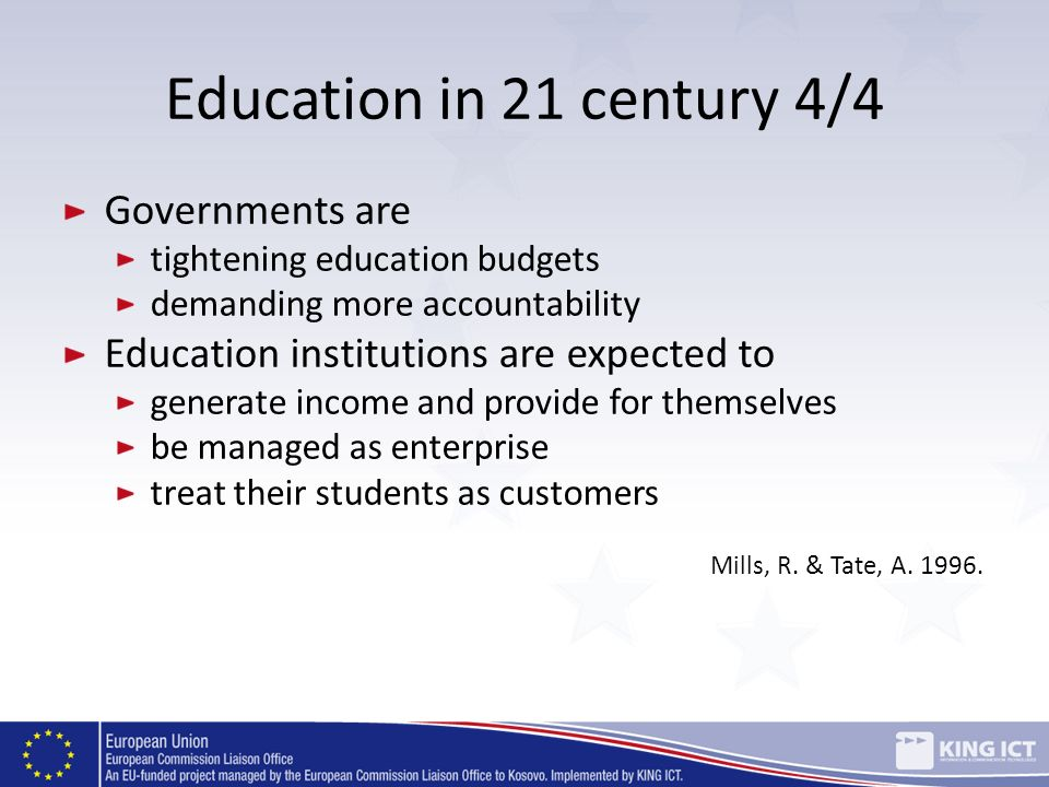 Education in 21 century 4/4 Governments are