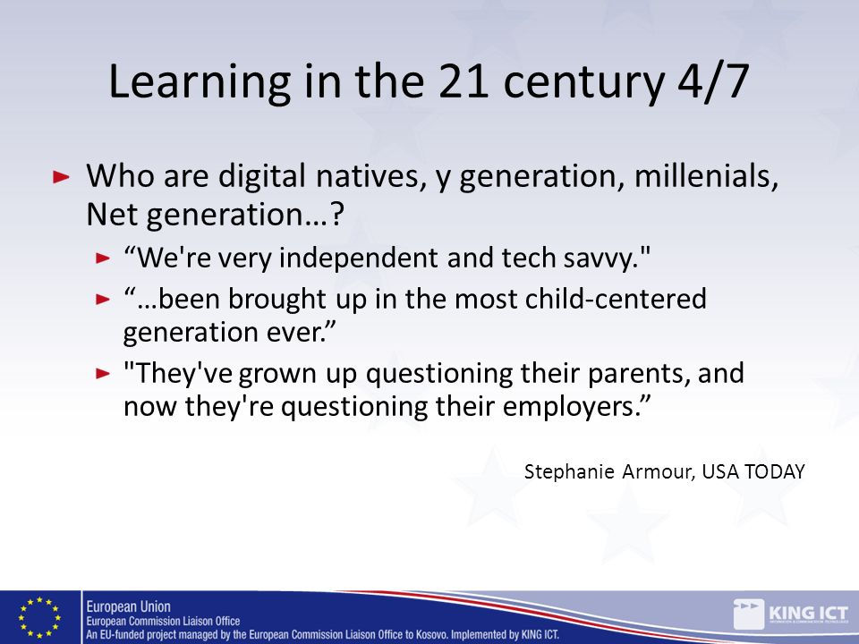 Learning in the 21 century 4/7