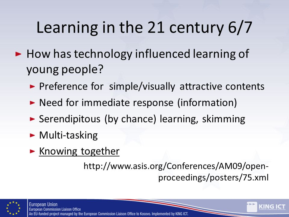 Learning in the 21 century 6/7