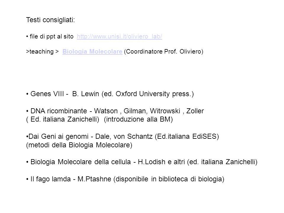 • Genes VIII - B. Lewin (ed. Oxford University press.)